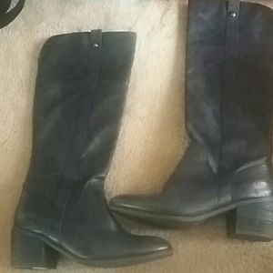 Vince Camuto Black Leather Boots size 10 Medium